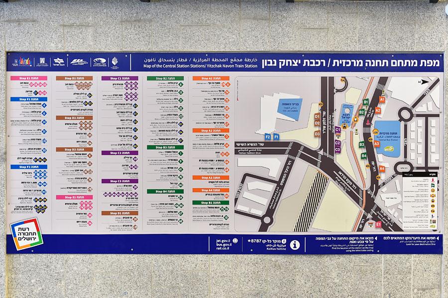 Lageplan im Bahnhof Jerusalem