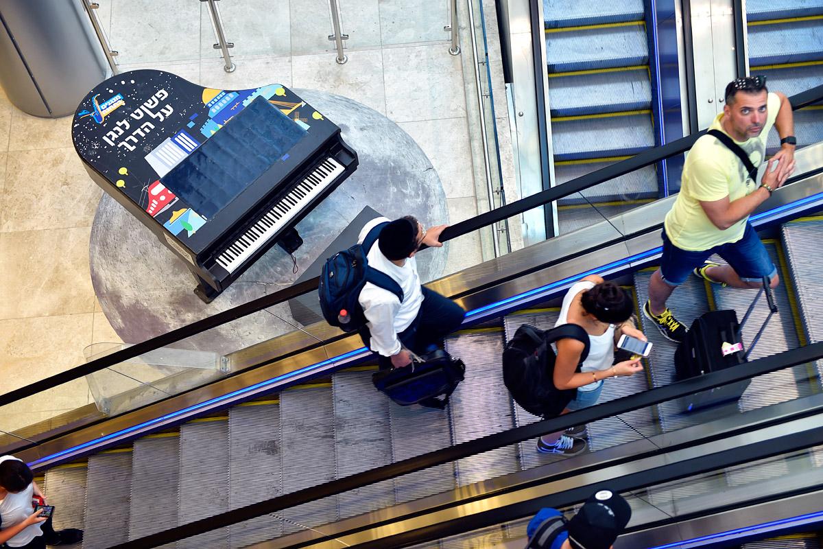 Rolltreppengewirr im Hauptbahnhof.