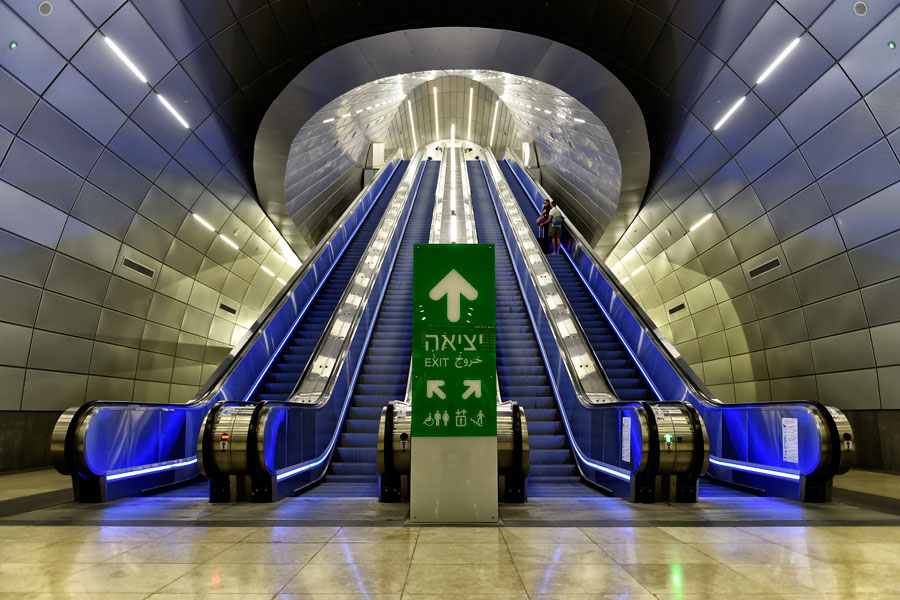 Rolltreppen im Bahnhof Jerusalem