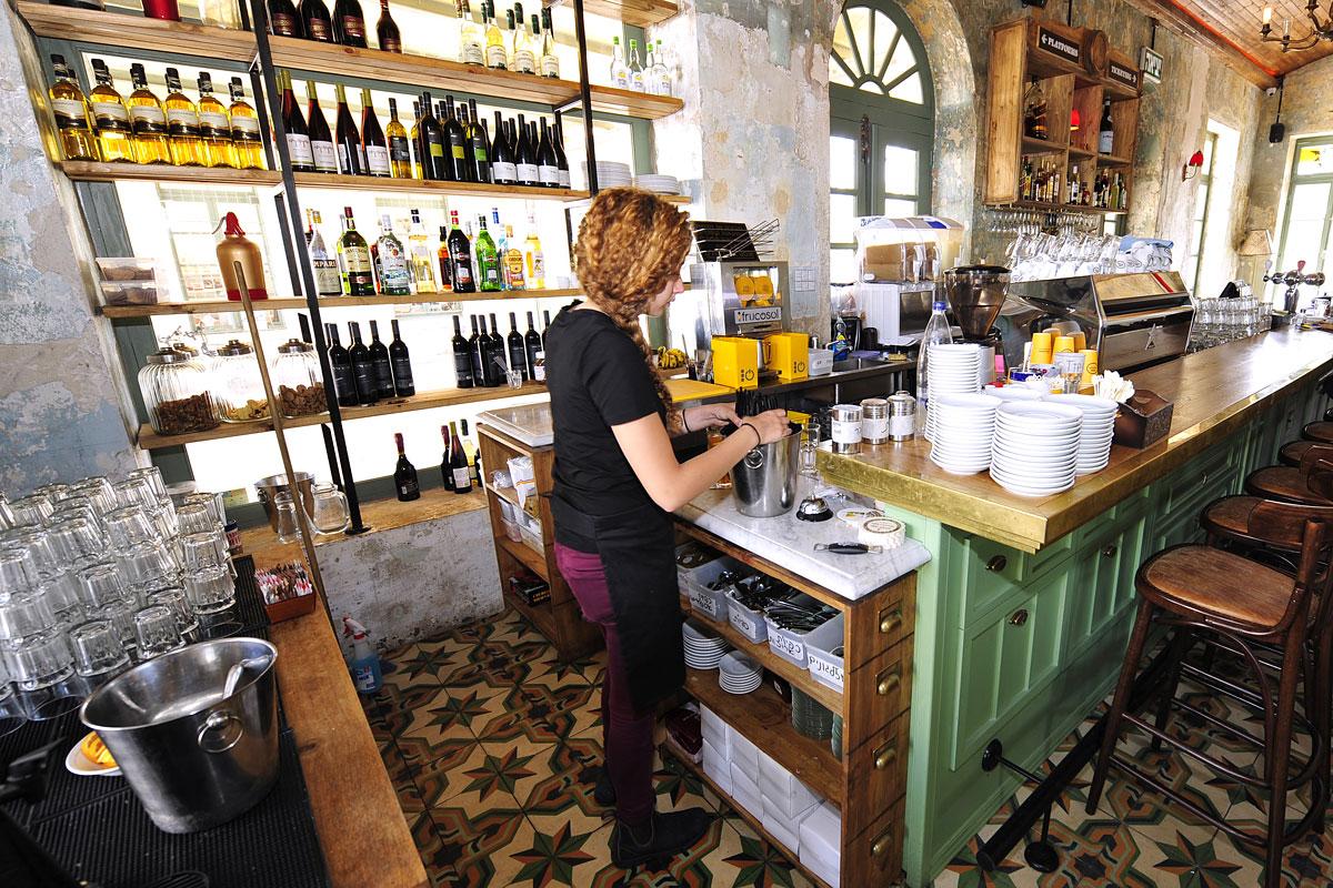 Restaurant in der First Station Jerusalem.