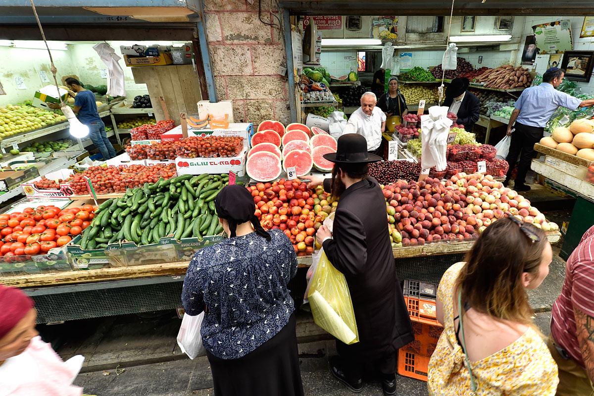 Gemüse auf dem Mahane Yehuda Markt in Jerusalem.
