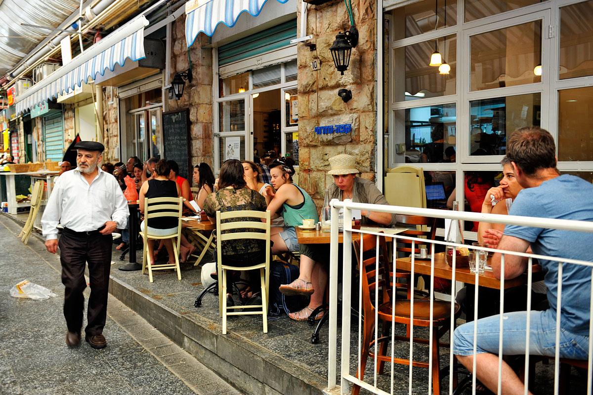 Restaurants, Bars und Cafés auf dem Mahane Yehuda Markt.