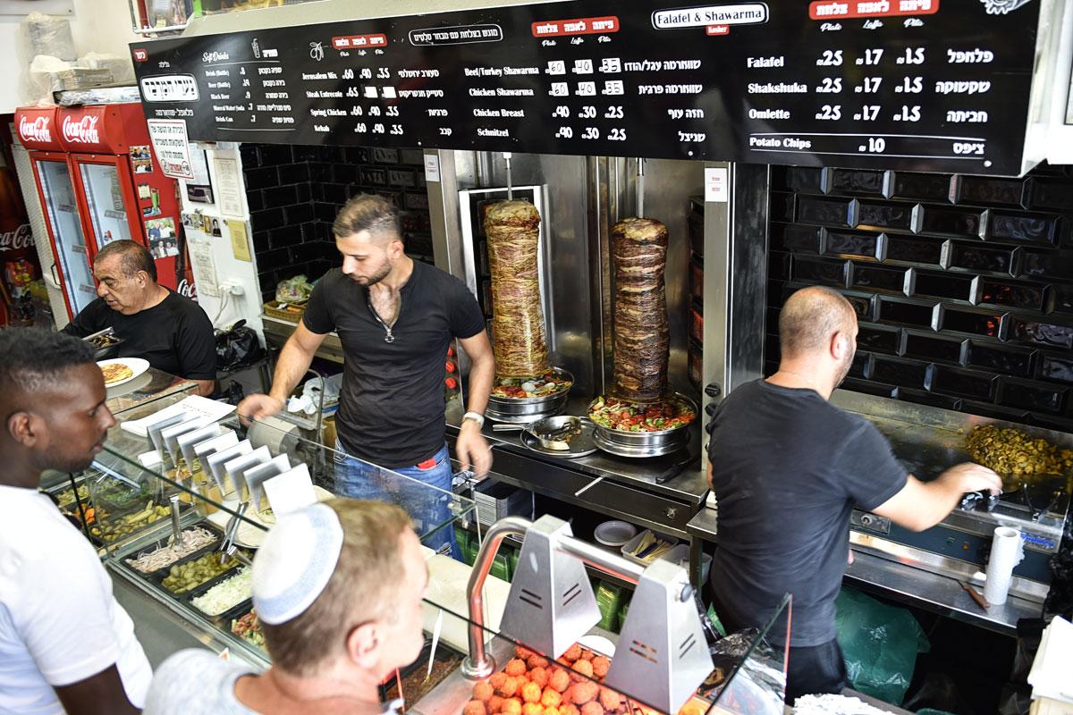 Schawarma und Falafel in Jerusalem.