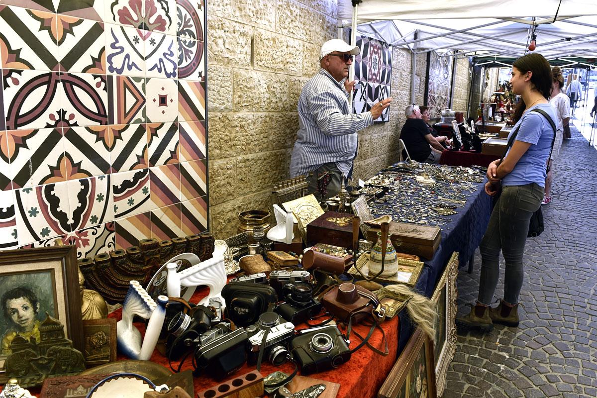 Flohmarkt Jerusalem: Altes aus aller Welt.