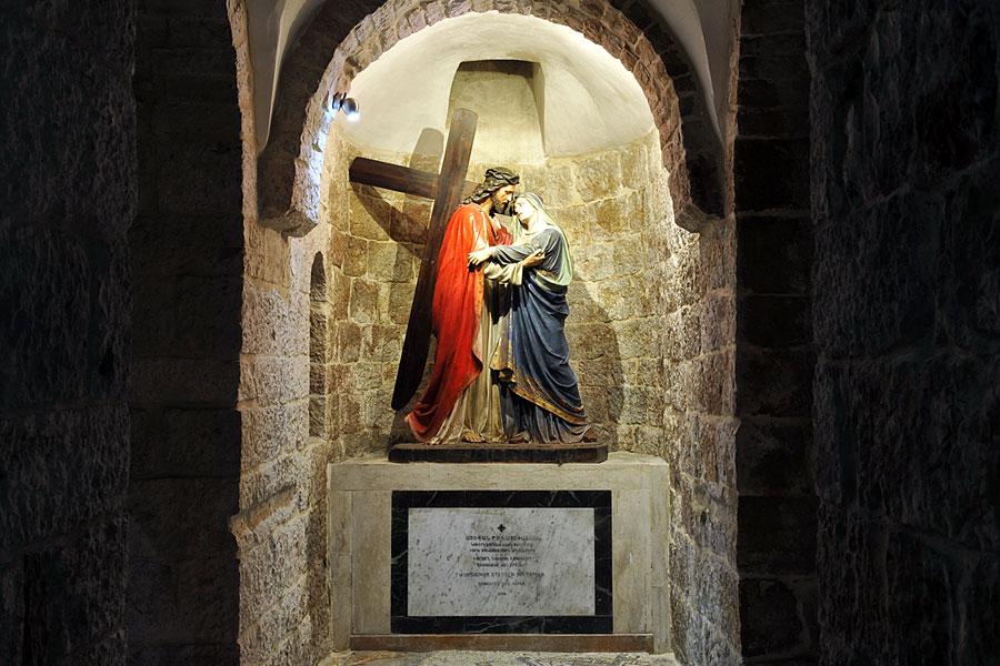 Jesu Begegnung mit seiner Mutter Via Dolorosa