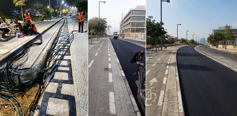 Die neue elektrifizierte Straße in Tel Aviv.