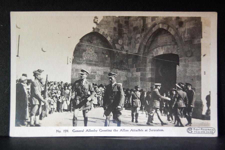 General Allenby am Jaffa-Tor in Jerusalem - zu Fuß.
