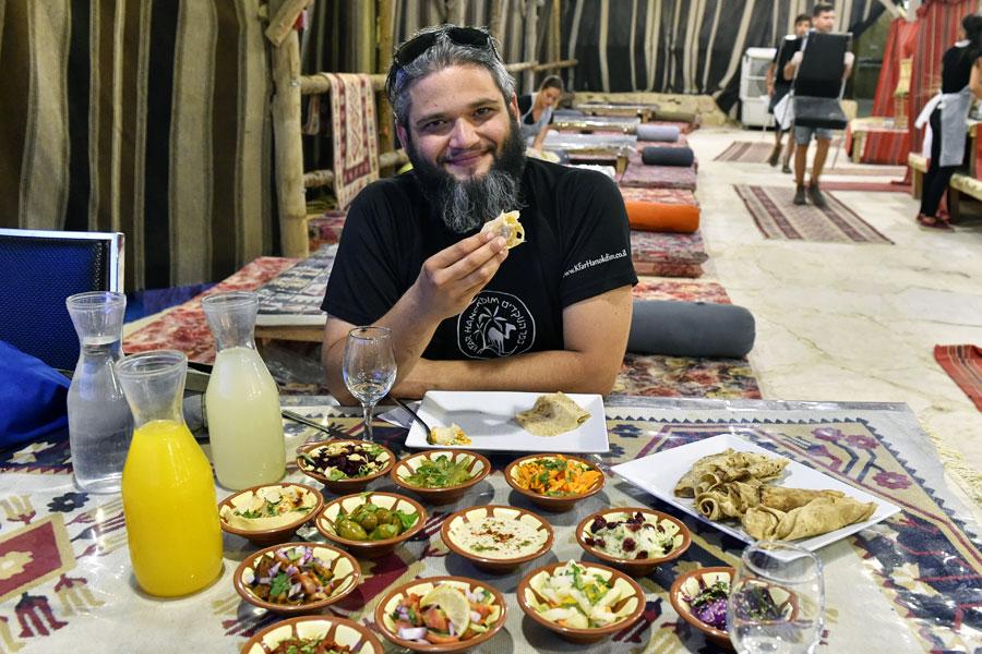 Vegane Speisen in Israel.