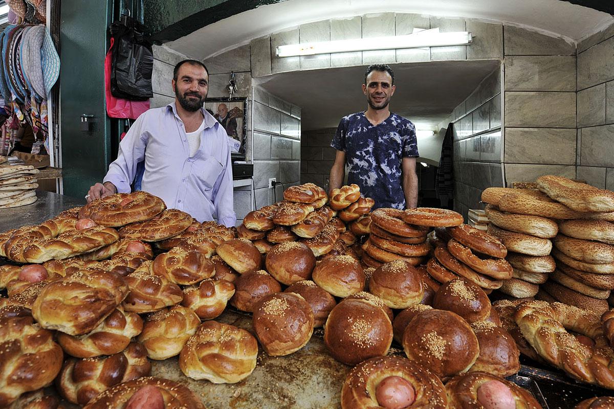 Muslimischer Bäckerstand in Jerusalem