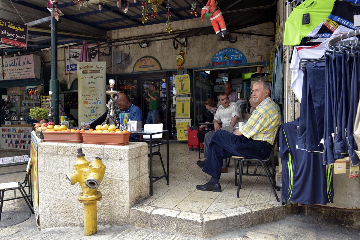 Kaffee in der muslimischen Altstadt Jerusalems