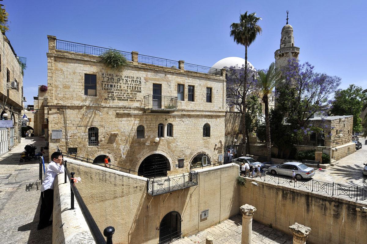 Moschee im jüdischen Viertel.