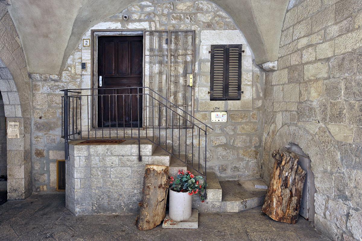 Hauseingang im jüdischen Viertel.