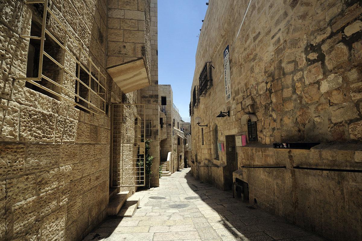 Sauberkeit im jüdischen Viertel