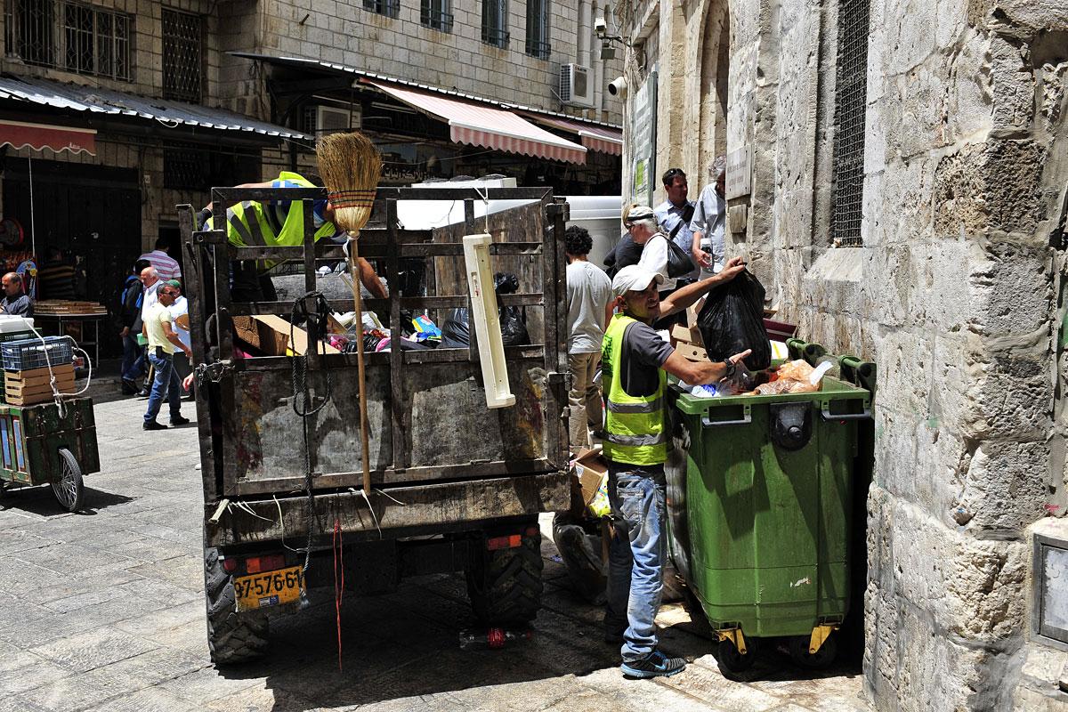 Müllabfuhr in der Altstadt Jerusalem