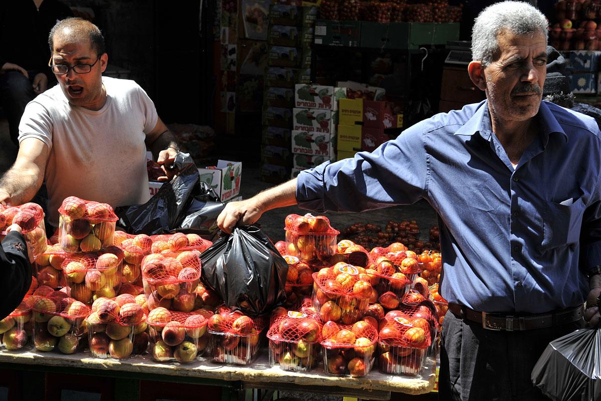 Marktverkäufer muslimische Altstadt Jerusalem