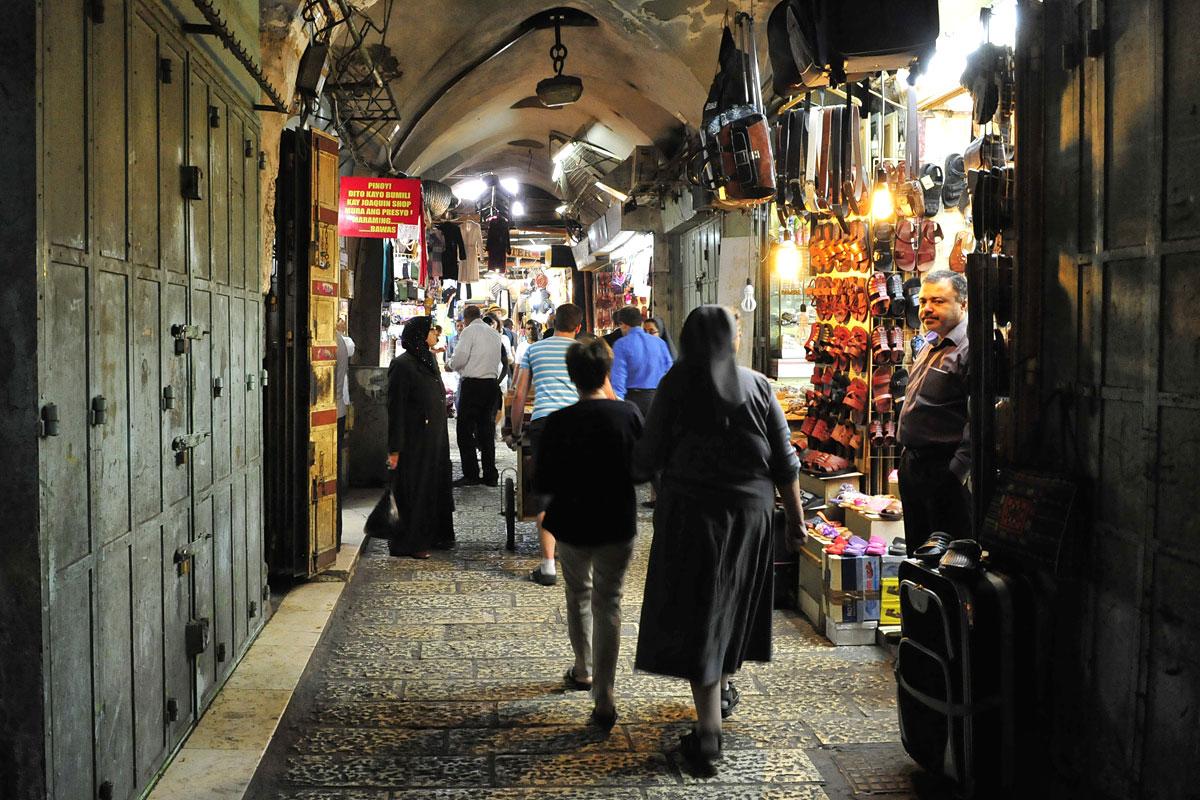 Muslimischer Shuk Jerusalem.