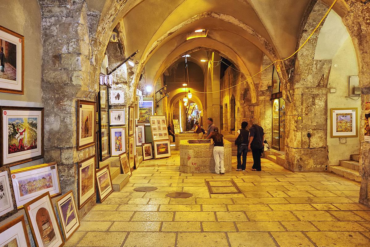 Kunst im Cardo der Jerusalemer Altstadt.