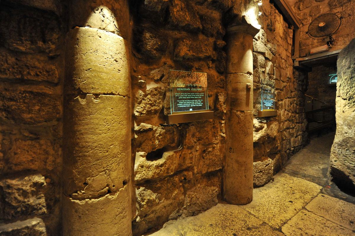 Originales römisches Pflaster 20 Meter unter heutigem Niveau.