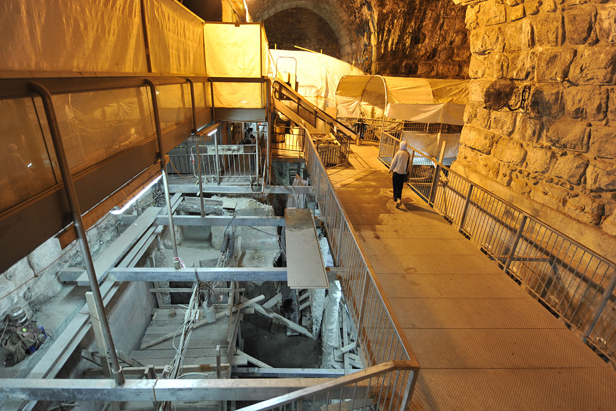 Ausgrabungen im Klagemauer-Tunnel.