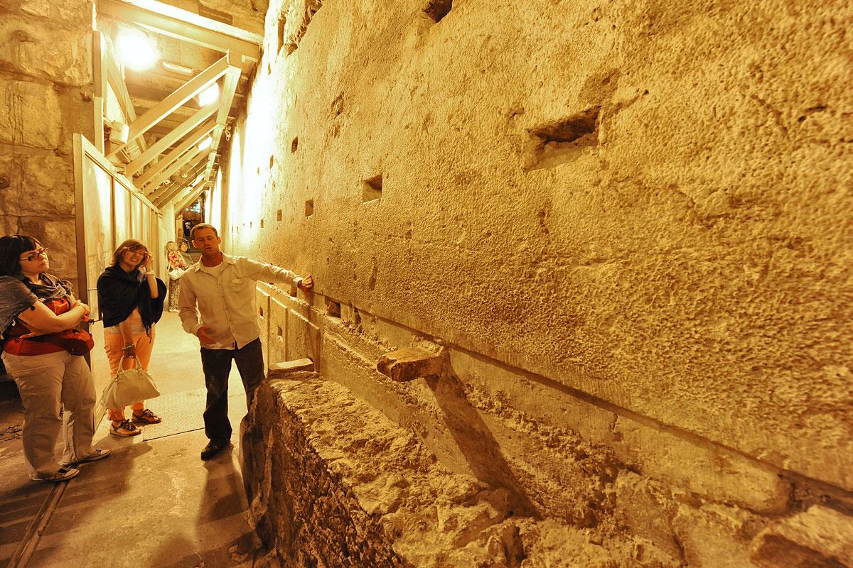 550 Tonnen schwerer Block in der Klagemauer.