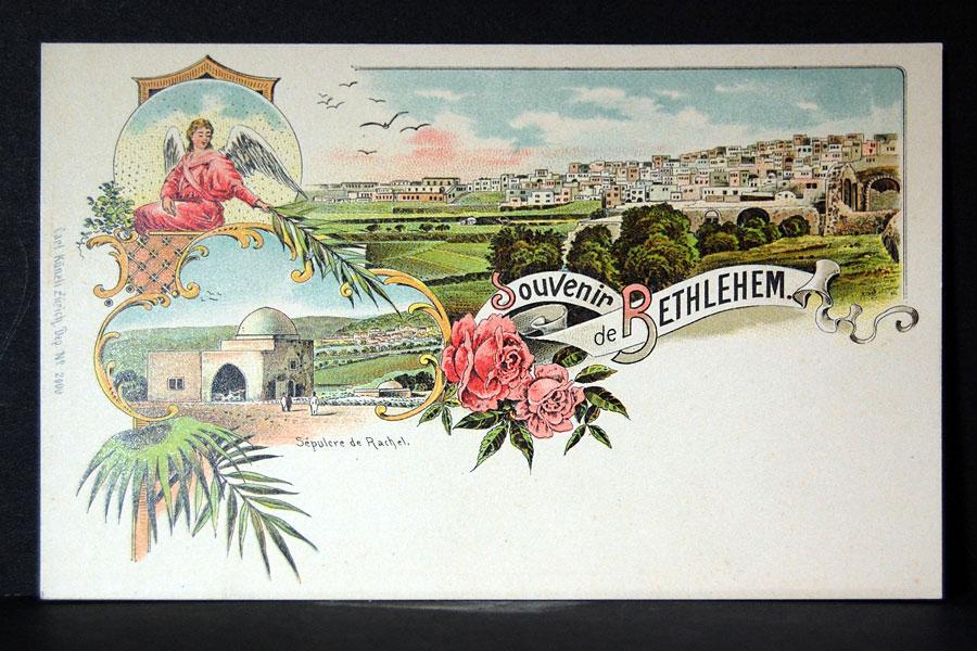 Historische Ansichtskarte von Bethlehem.