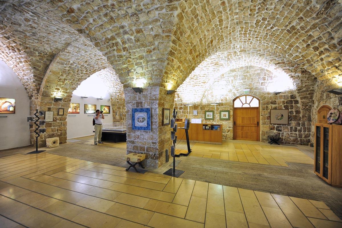 Besucherzentrum von Akko in der Kreuzfahrerfestung.