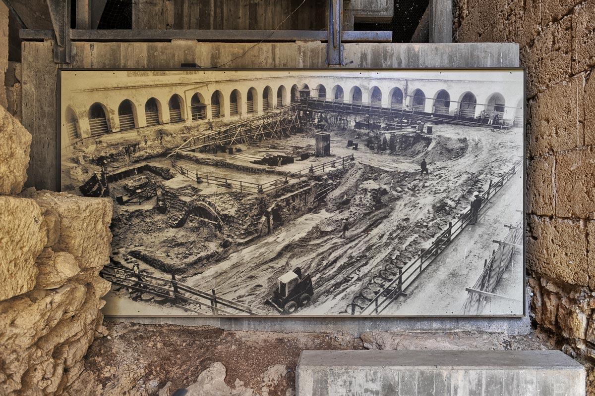 Foto von der ersten Ausgrabung der Hospitalerfestung Akko.