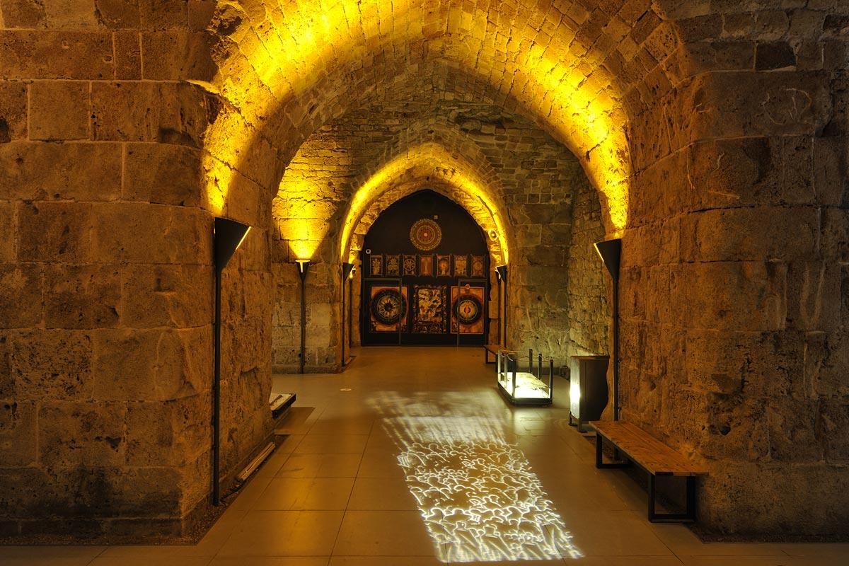 Die Gewölbe und Räume wurden hervorragend wiederhergstellt.