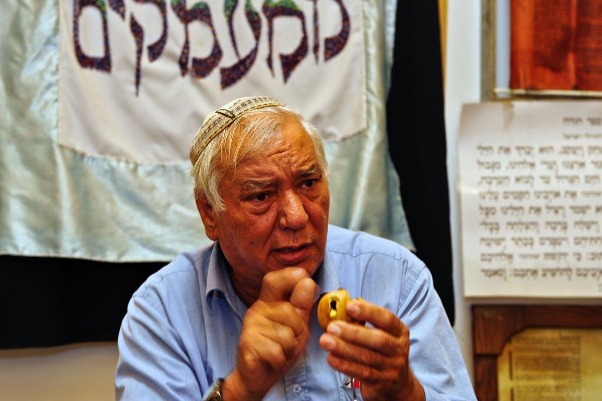 Jüdischer Gemeindevorsteher in der Altstadt von Akko.