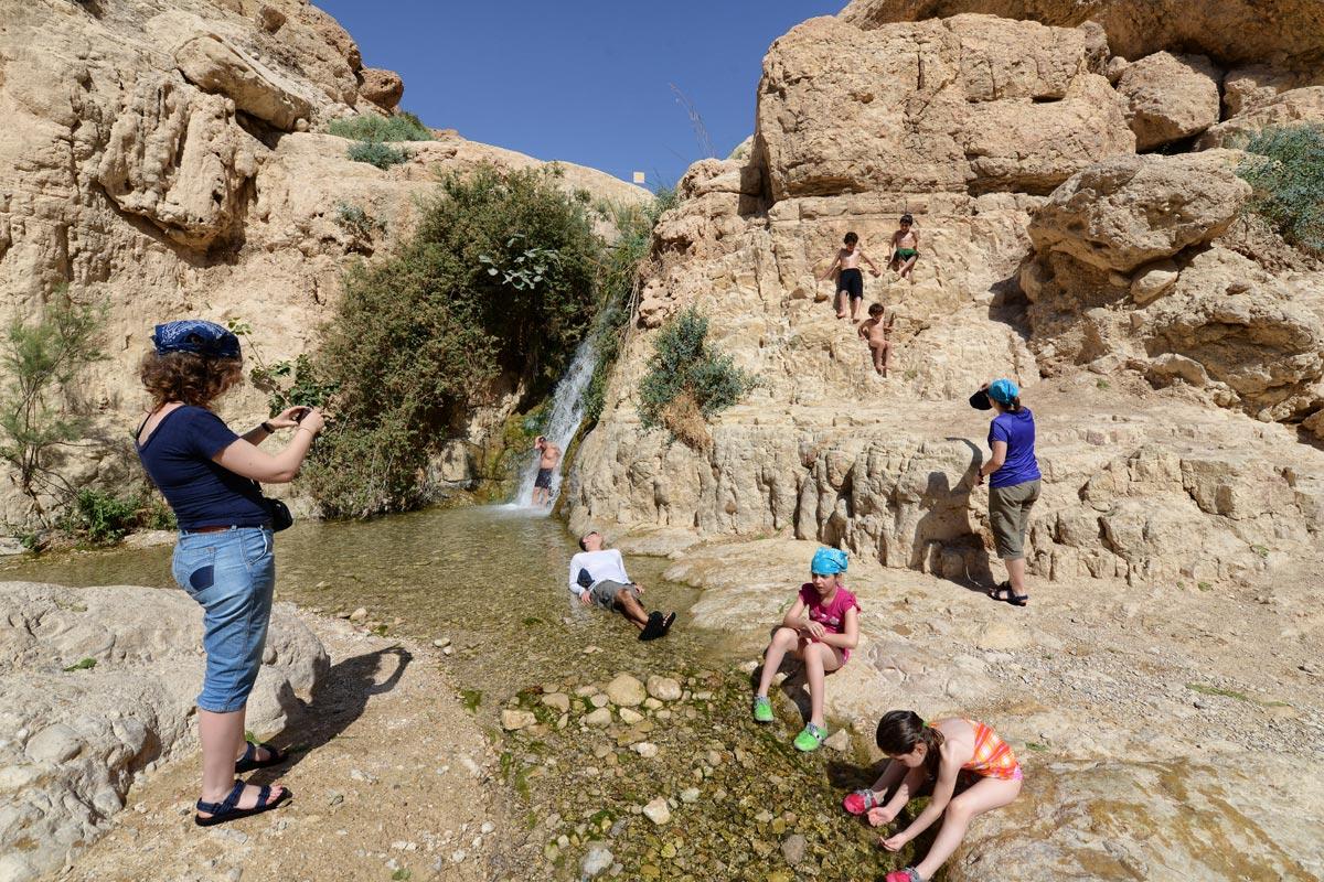 En Gedi - Wadi David: Erholung für die ganze Familie.