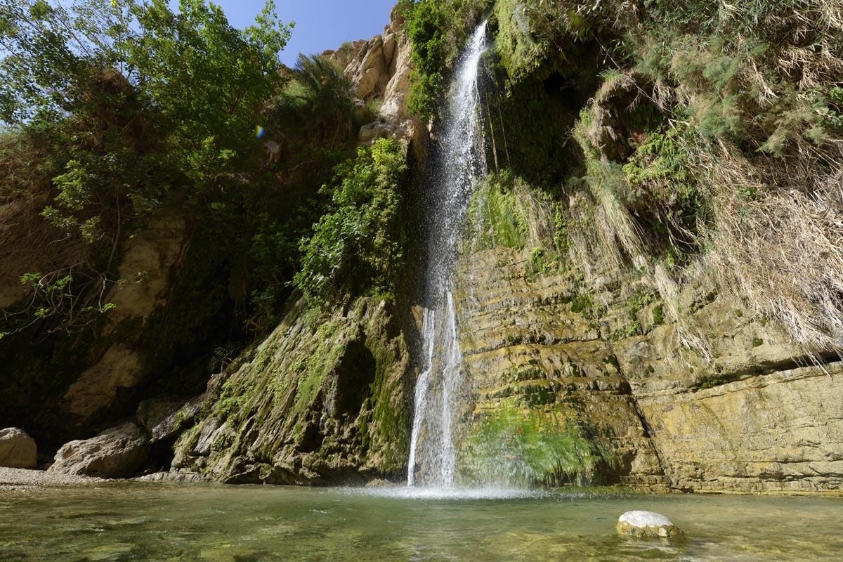 En Gedi - Wadi David: Der beeindruckendste Wasserfall.
