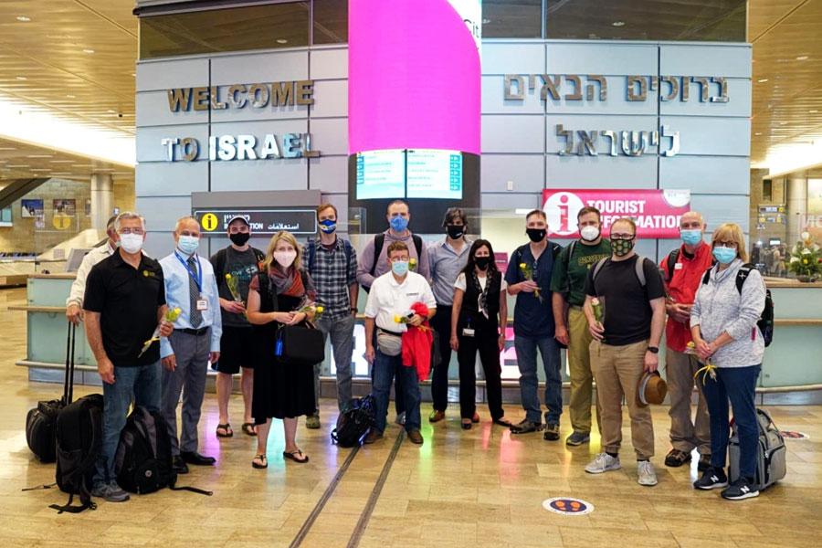 Die erste Reisegruppe in Israel im Jahr 2021.
