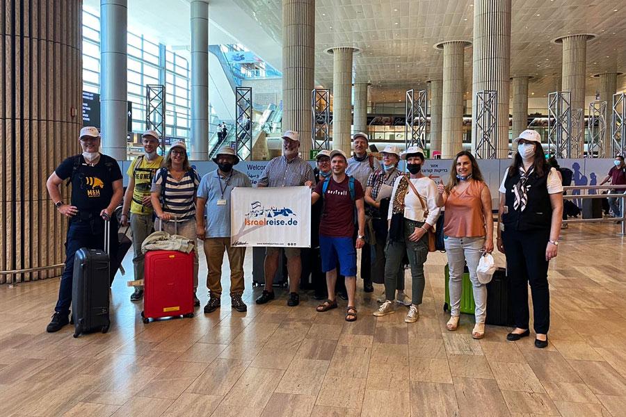 Die erste deutsche Reisegruppe in Israel seit dem Einreisestopp.