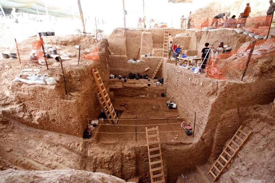 Die Ausgrabungsstätte in Israel.