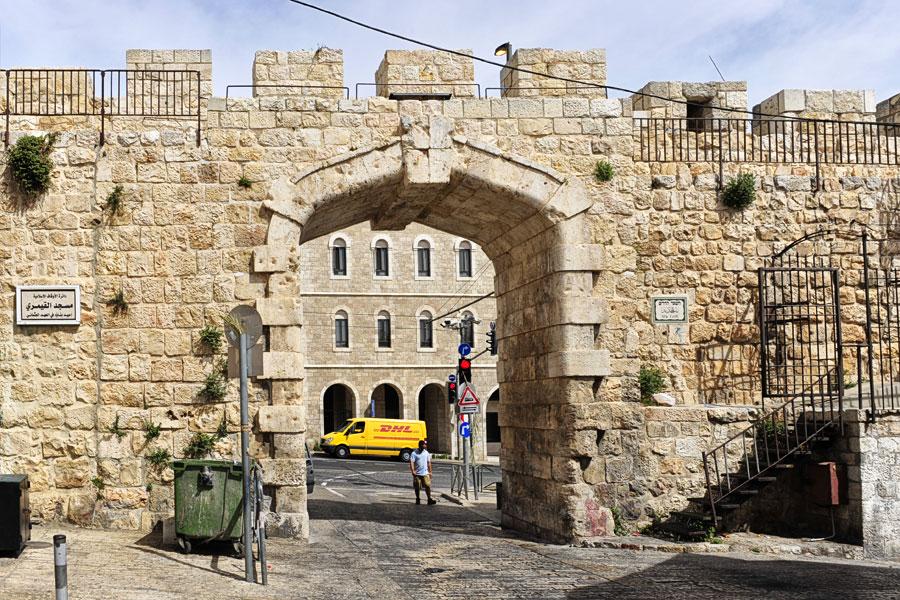 Innenseite Neues Tor in Jerusalem.