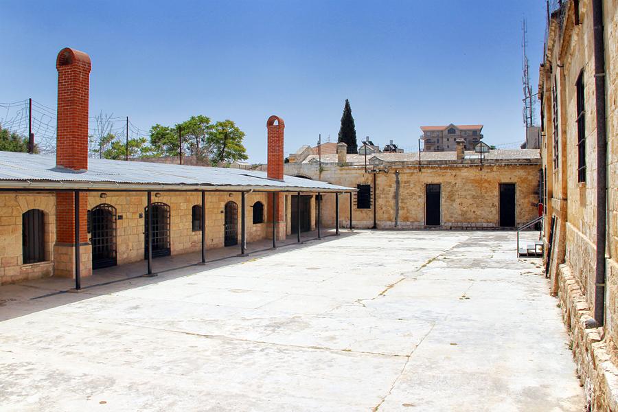 Der ehemalige Gefängnishof im Museum in Jerusalem.