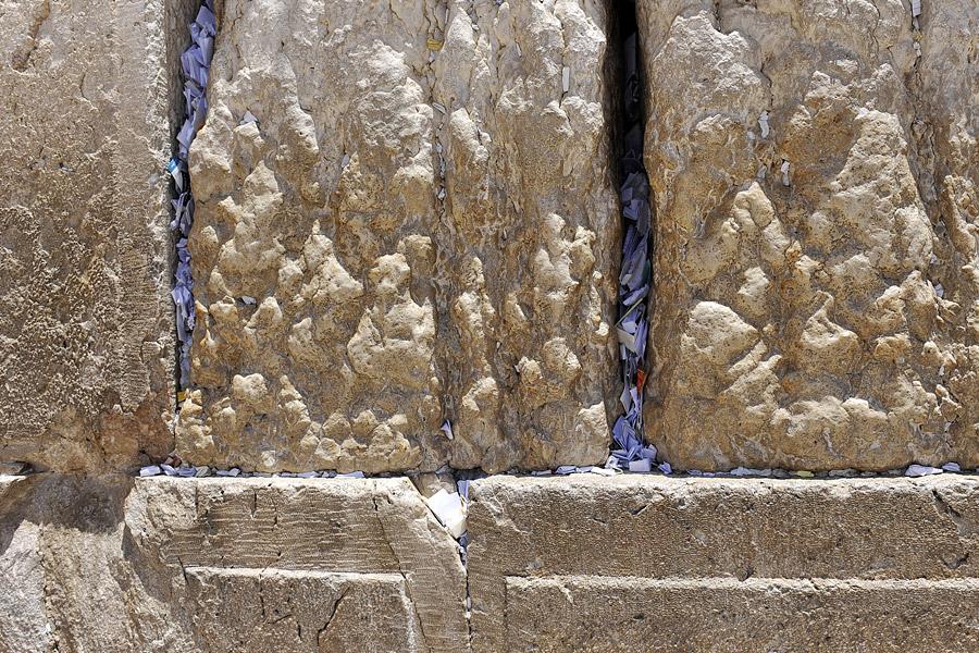 Gebetszettel in der Klagemauer.