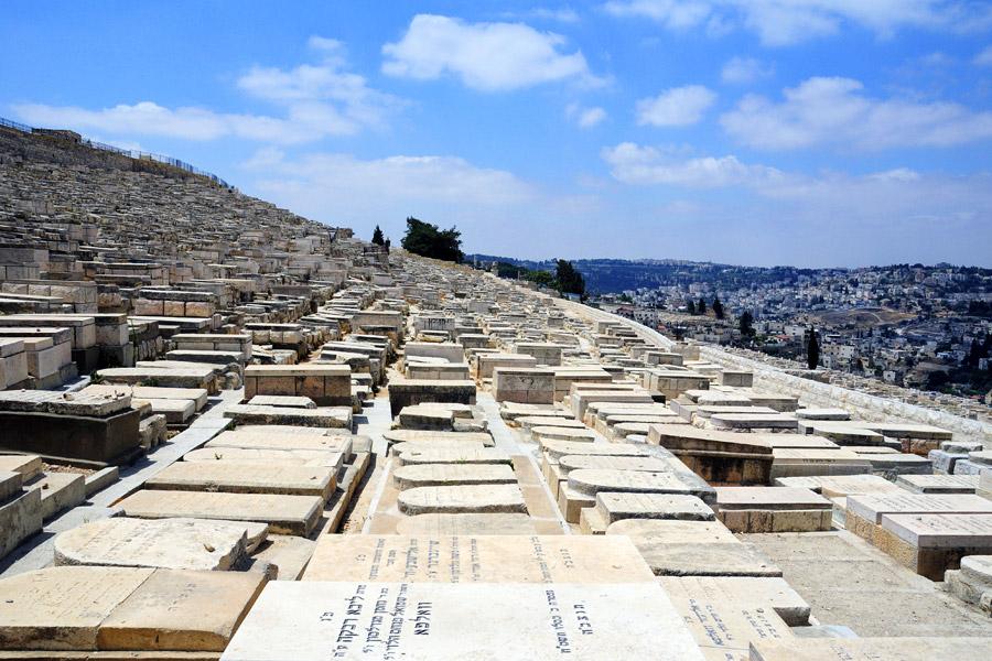 Jüdische Gräber auf dem Ölberg.