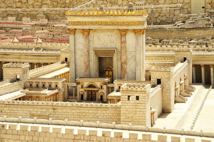 Modell des Zweiten Tempels im Israel Museum Jerusalem.