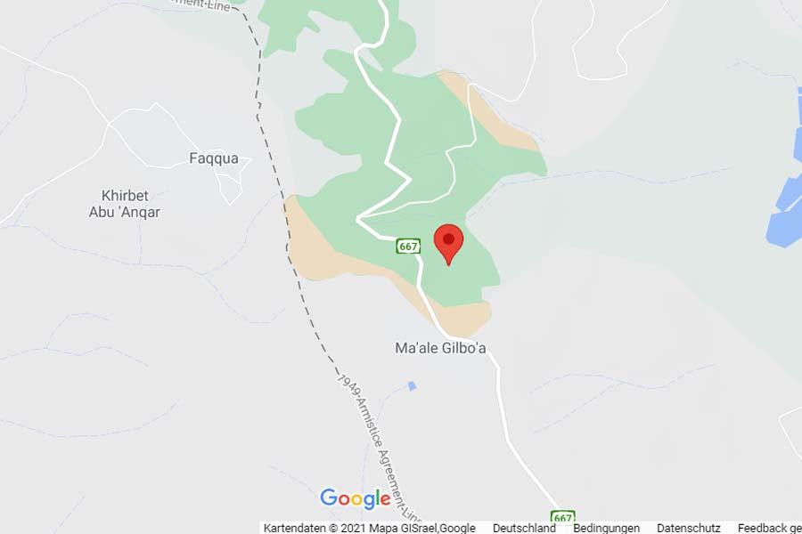 Der Spring Valley Trail beginnt auf dem Berg Gilboa.
