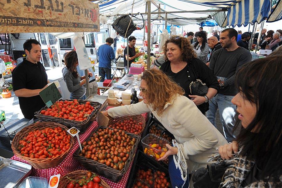 Bauernmarkt in Tel Aviv.
